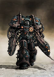 Chaos space Marine Oblitterator in color by Jutami