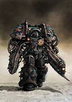 Chaos space Marine Oblitterator -bulked out-