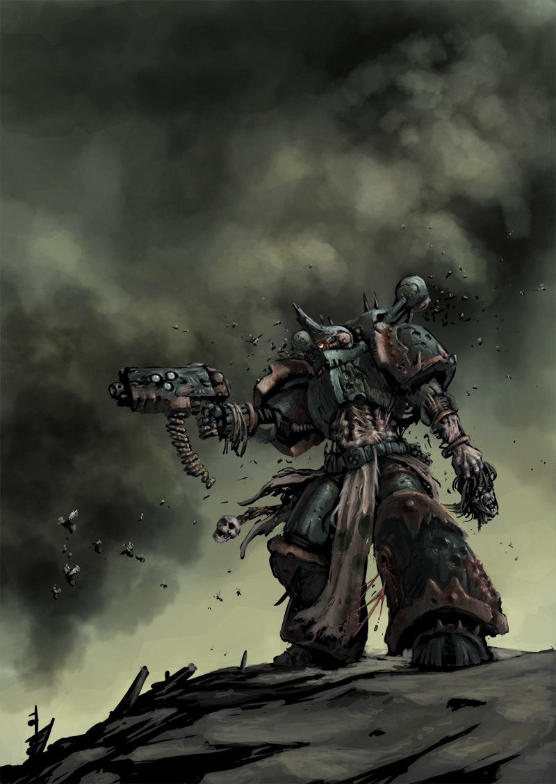 Chaos space Marine Plague marine color by Jutami