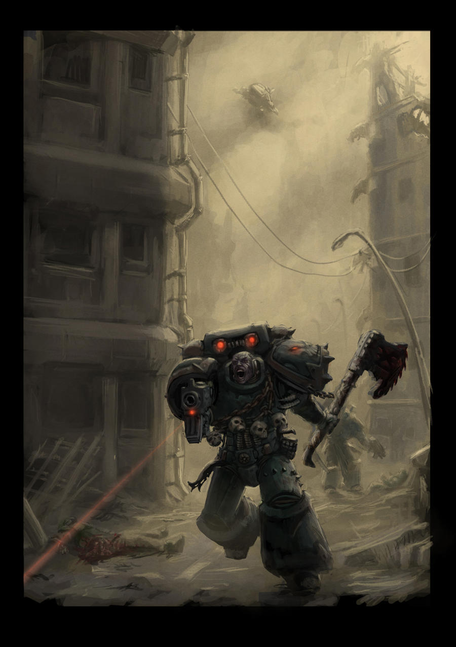 Chaos space marine Berzerker 2 Final cut by Jutami