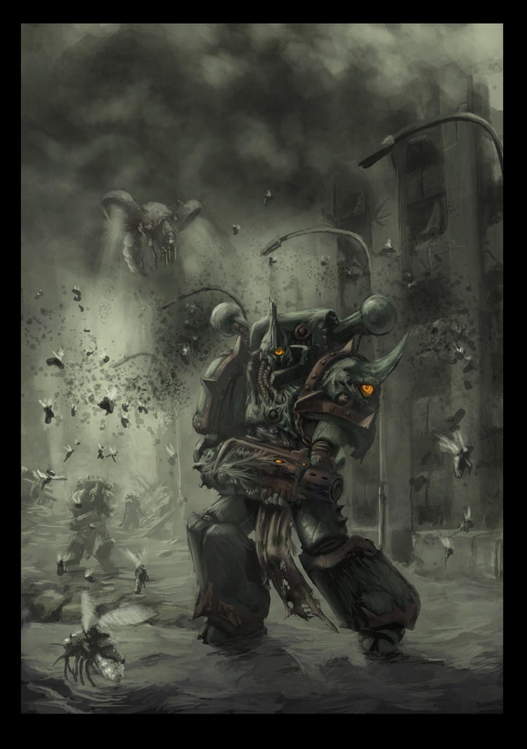 [W40K] Collection d'images : Space Marines du Chaos Chaos_space_marine_plague_marine_2_by_jutami-d4ganlu