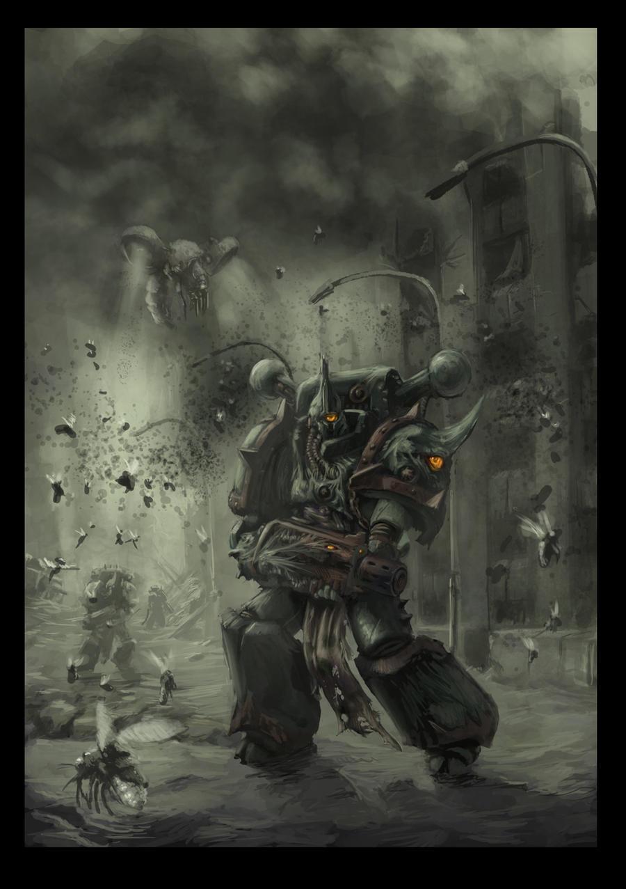 Chaos space marine plague marine 2 by Jutami