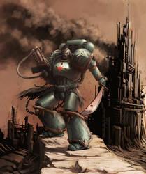 Chaos space marine by Jutami