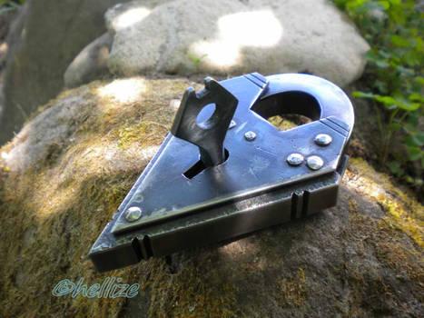 massive medieval padlock