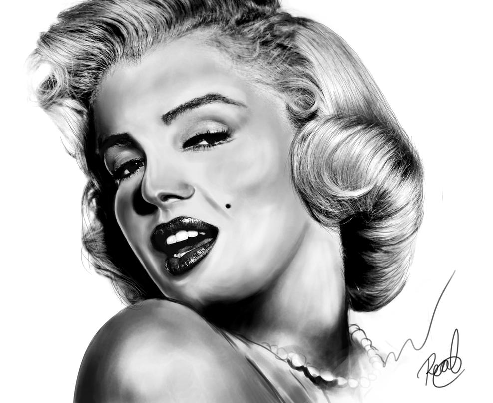 Marilyn Monroe in black and white by danielgood19 on DeviantArt