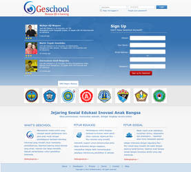 Geschool Website Login menu by badmister