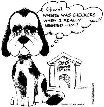 Nixon in the doghouse by newbreen