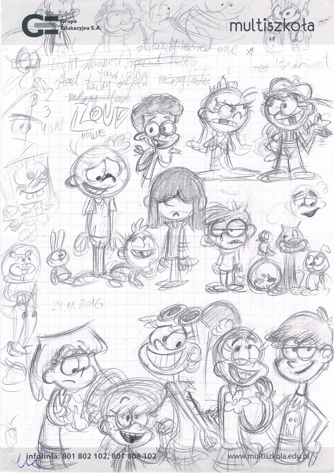 Loud House Sketches By Ruffytoon On Deviantart