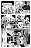 Punisher and Batman page 1 by electronicron