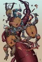 Teenage Mutant Ninja Turtles by electronicron