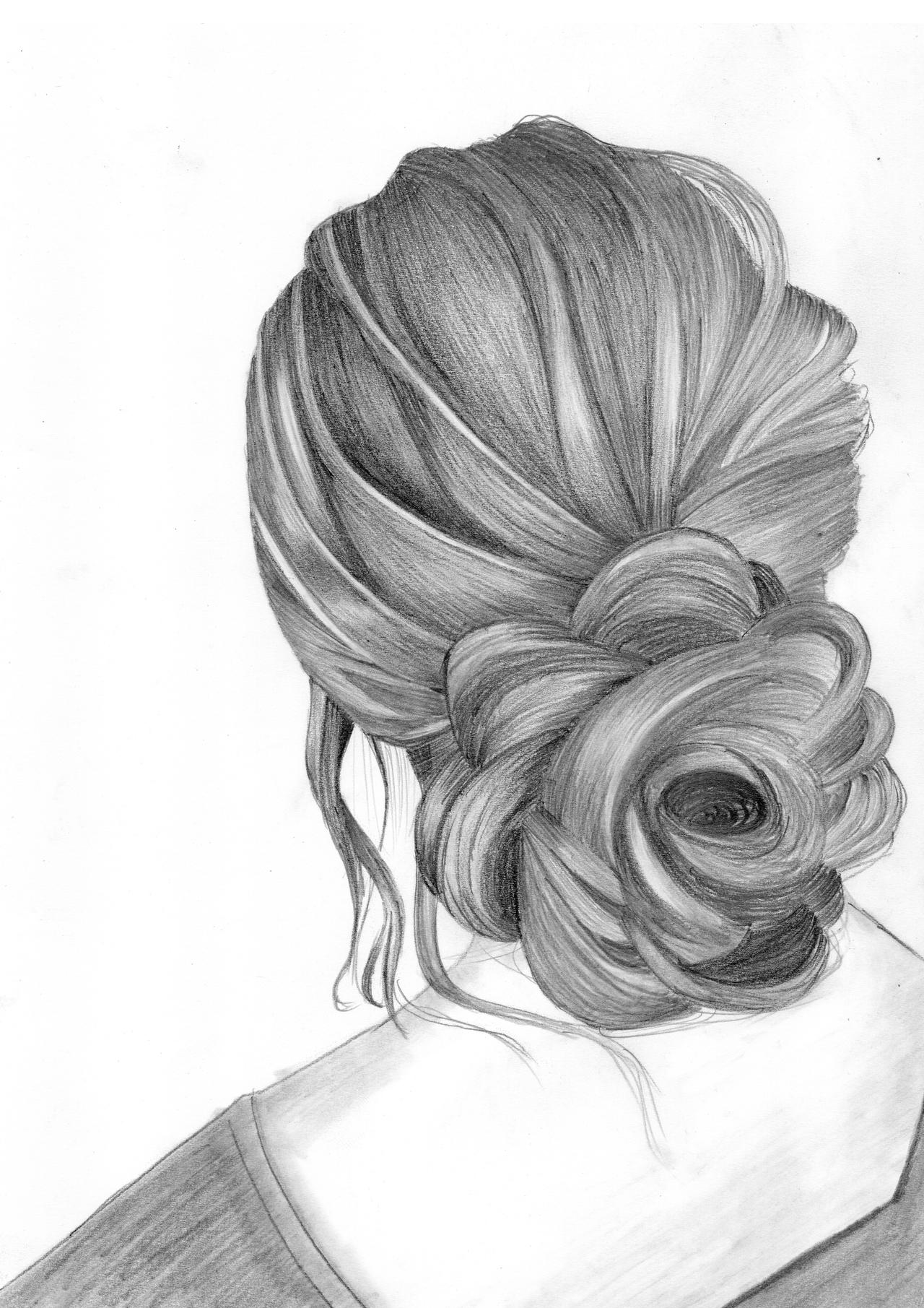 Draw a Girl With Beautiful Hairstyle by DrawingTimeWithMe on