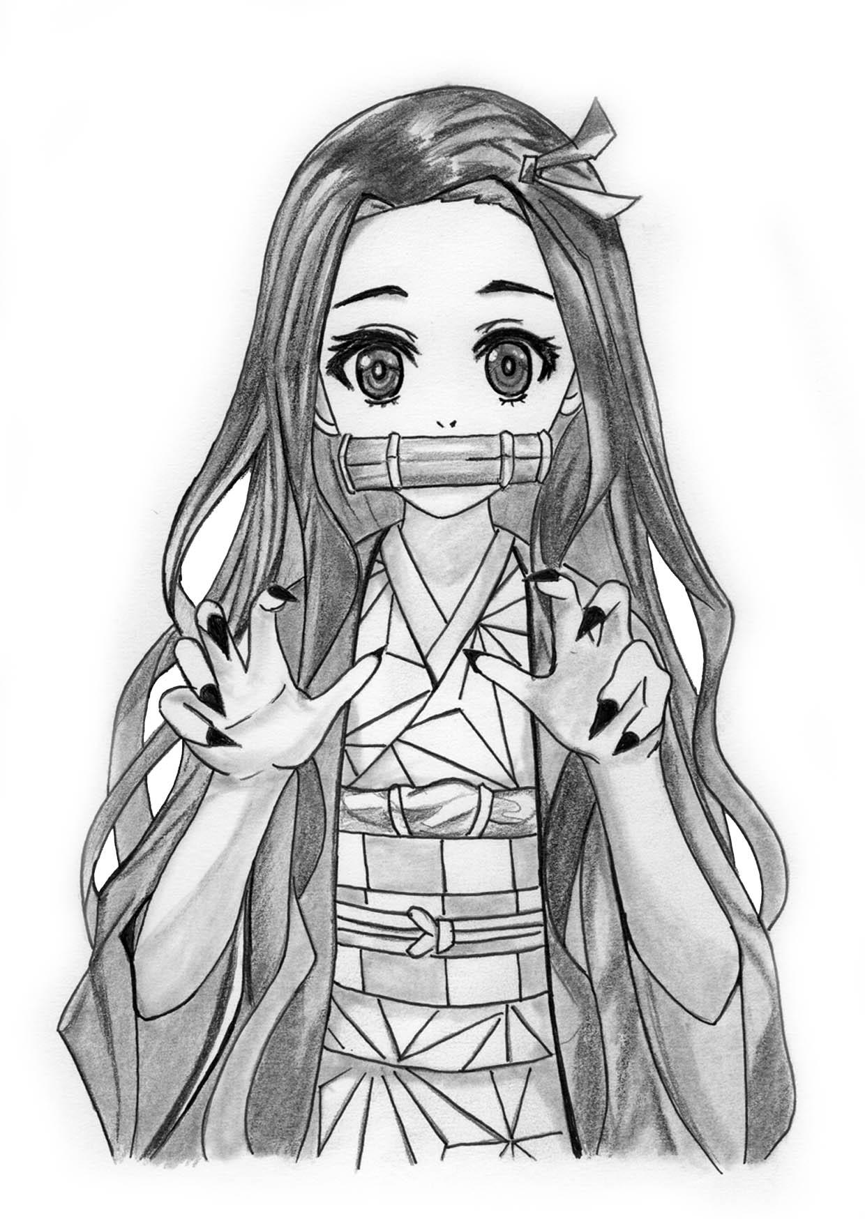 Drawing Nezuko Kamado Demon Slayer Kimetsu No Yaib