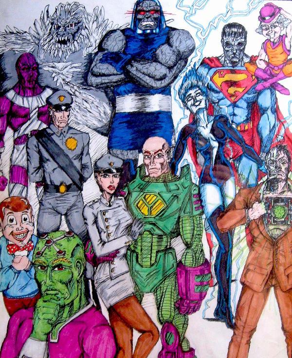 DC Villains Part 3 Superman By Toe Knee Bee Ears On DeviantArt