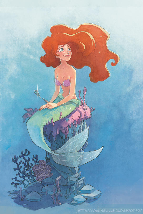 Ariel - Little mermaid Fanart by Yoyaan