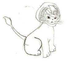 sphinx in cat form by x9000