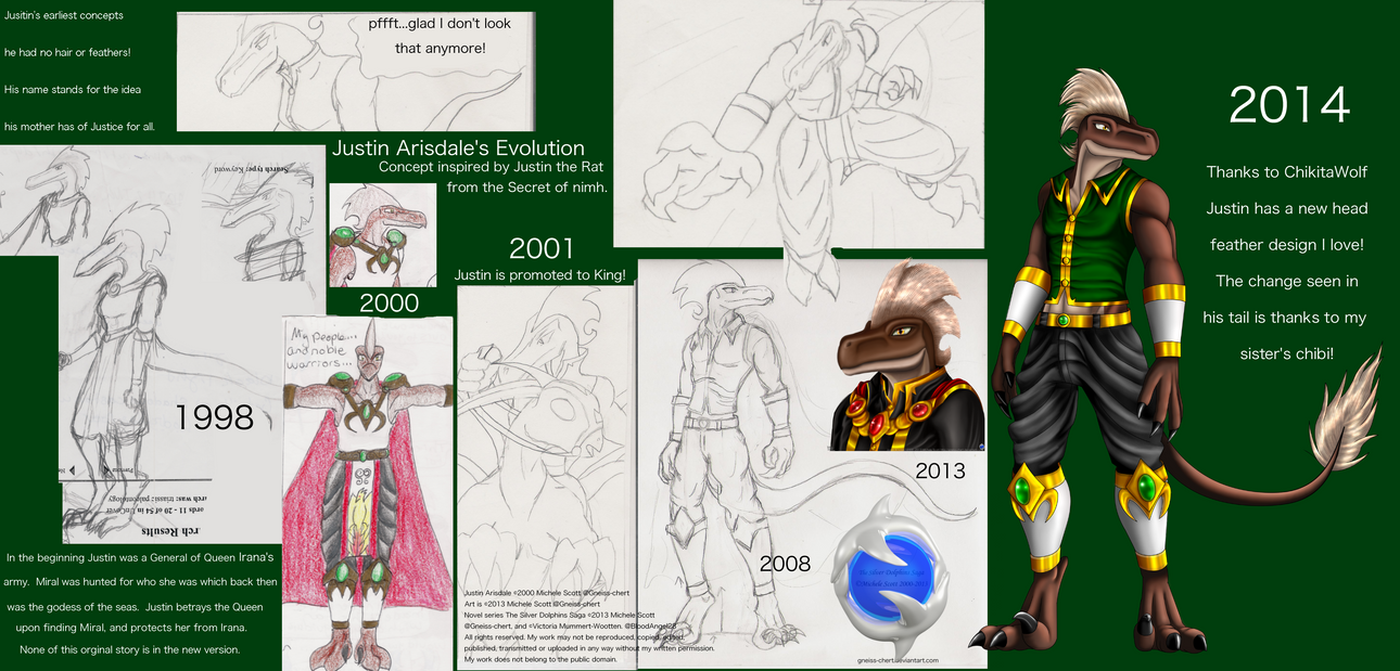Justin's Evolution 1998 to 2014 by Gneiss-chert