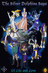 The Silver Dolphins One Year Anniversary Poster by Gneiss-chert