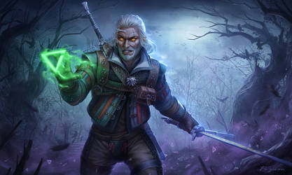 Witcher3 Fanart:Geralt of Rivia by Fuyuan1998