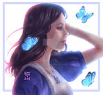 Alice Liddell and Butterflies