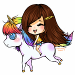 Kelly and her Unicorn by LeSpork