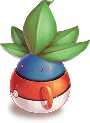 Oddish in a Cup by SunnieF