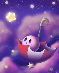 Parasol Kirby by SunnieF