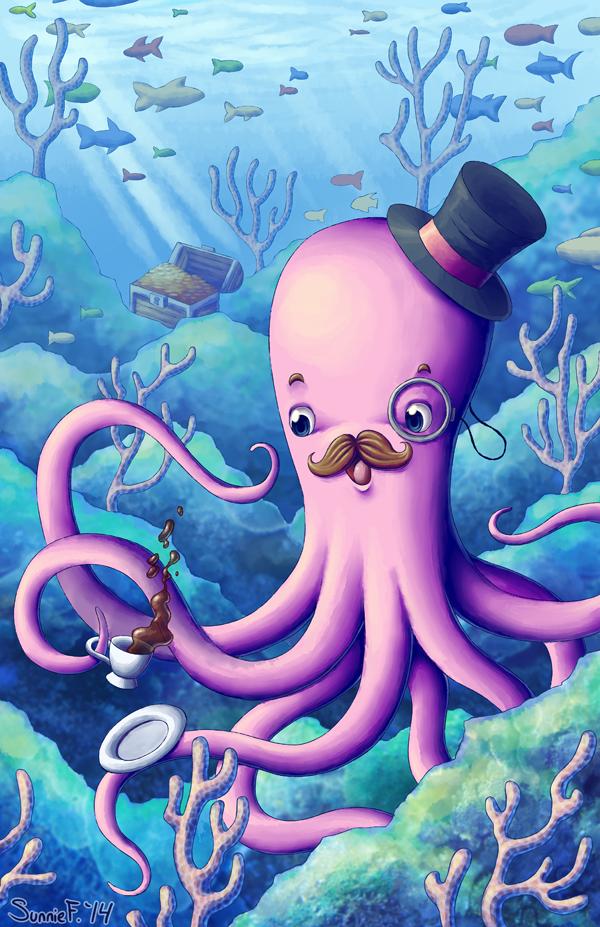 A Fancy Octopus Dilemma by SunnieF
