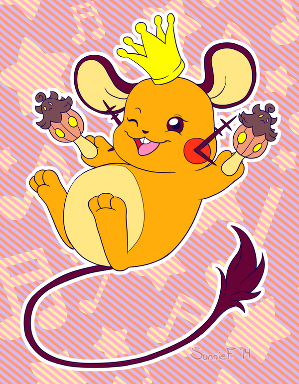 Party King Dedenne by SunnieF