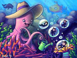 An Octopus's Garden by SunnieF