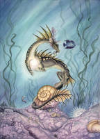 Pearl of the dragon by LarimarDragon