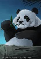 Night Panda by Freksama