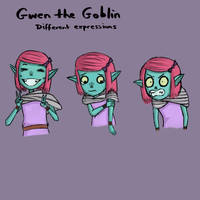 Gwen the Goblin - Expressions 1