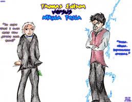 Thomas Edison versus Nikola Tesla by Combusken11