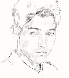 young Hoechlin by Alex-Soler