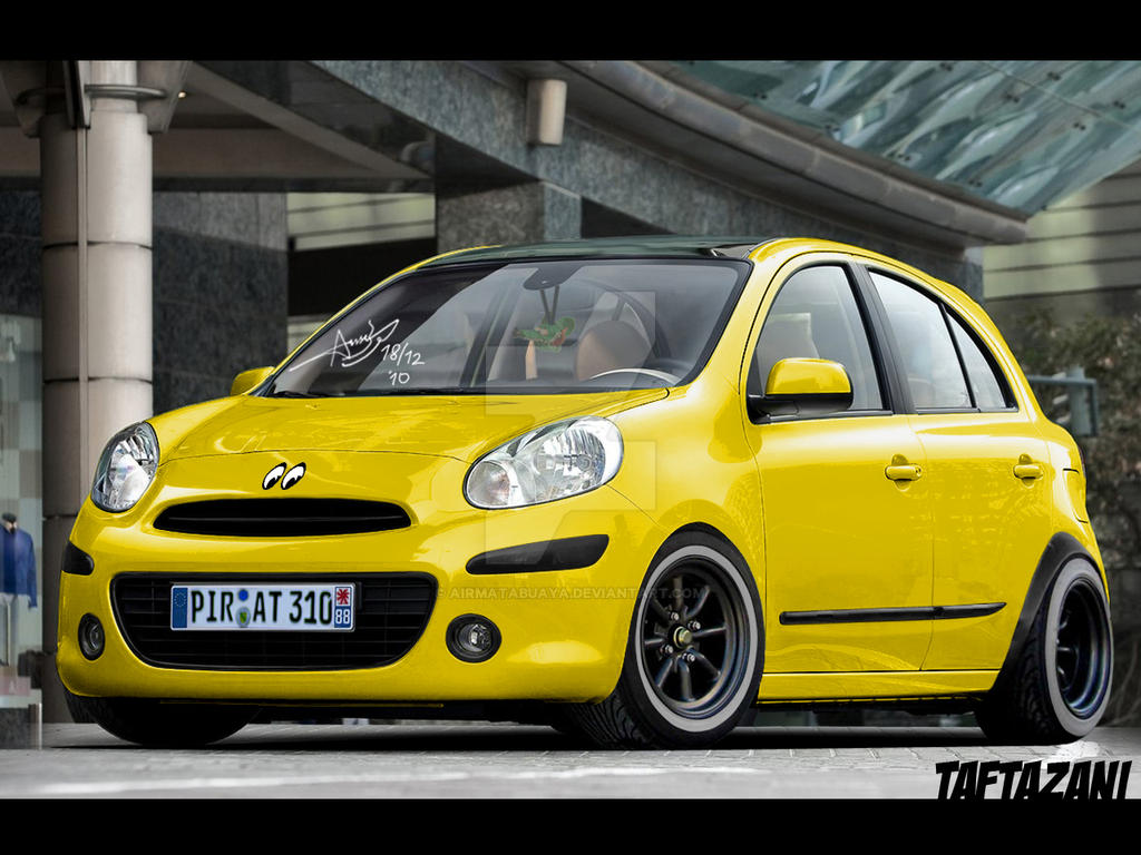 yellow march micra 2011 by airmatabuaya on deviantart. Black Bedroom Furniture Sets. Home Design Ideas