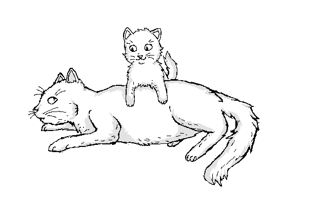 Cats Mother And Kitten Drawings