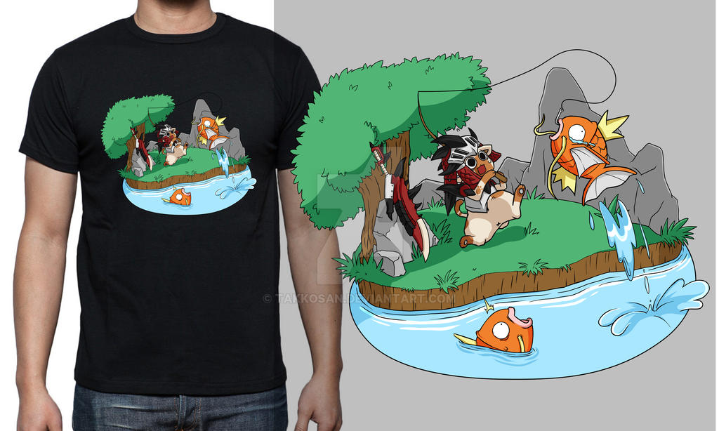 0b6df9f9 Monster Hunter x Pokemon Shirt Design by takkosan on DeviantArt