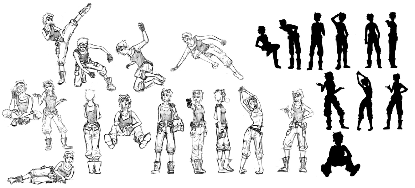 Difference Between Concept Art And Character Design : Character concept body poses by uninfinitum on deviantart