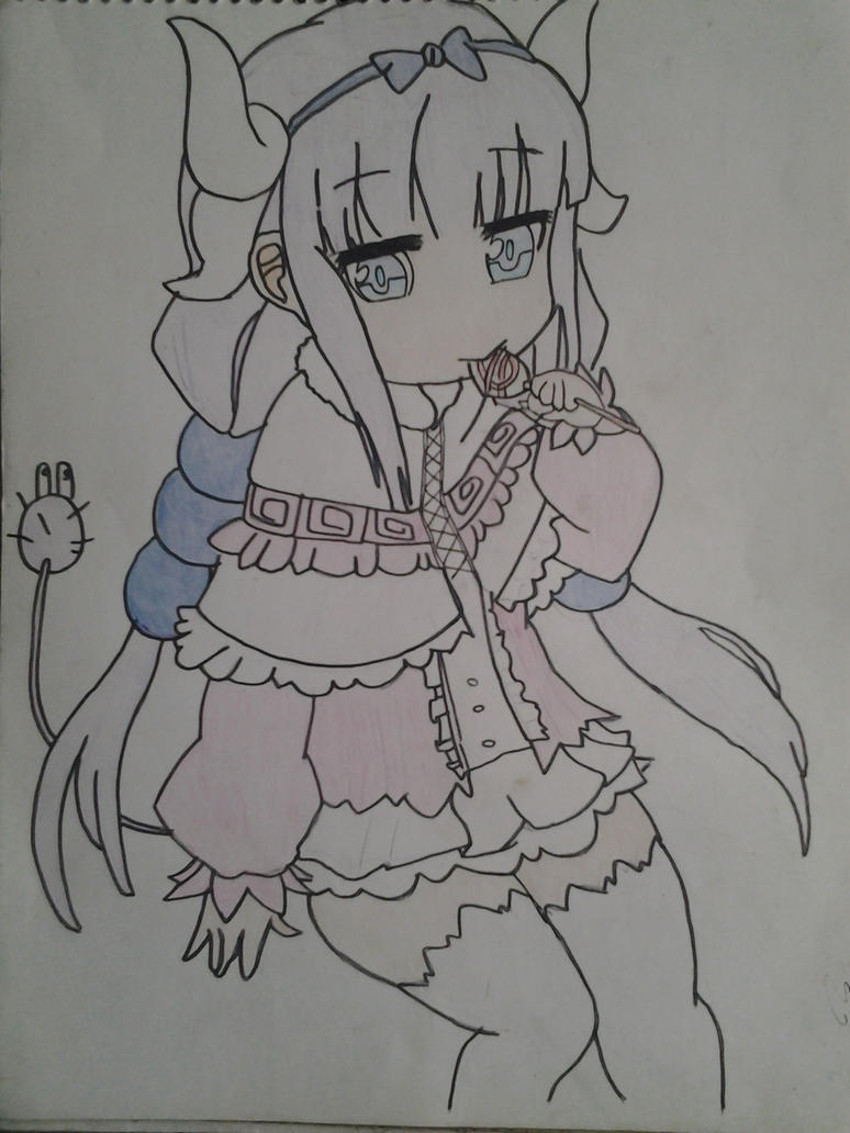 maid dragon : kanna by Dark-Dragon-Knight1