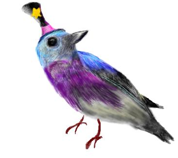 Teensie Magician Bird by lightnessduck