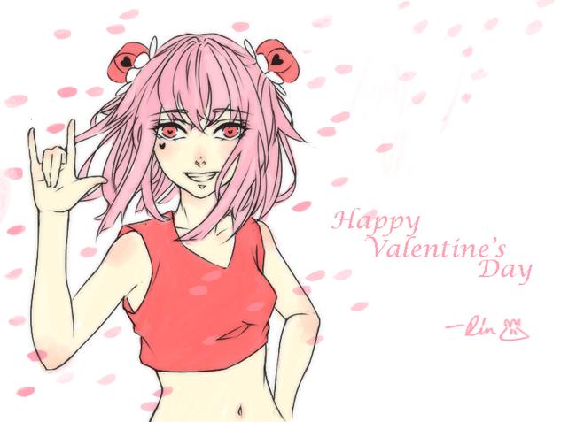 be my valentine c: by Litteria