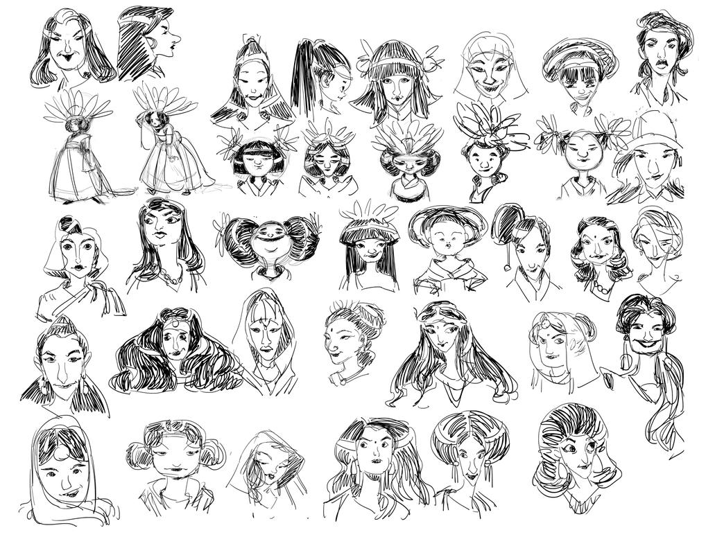 Character Design And Development : Character design development sketches by pain on deviantart