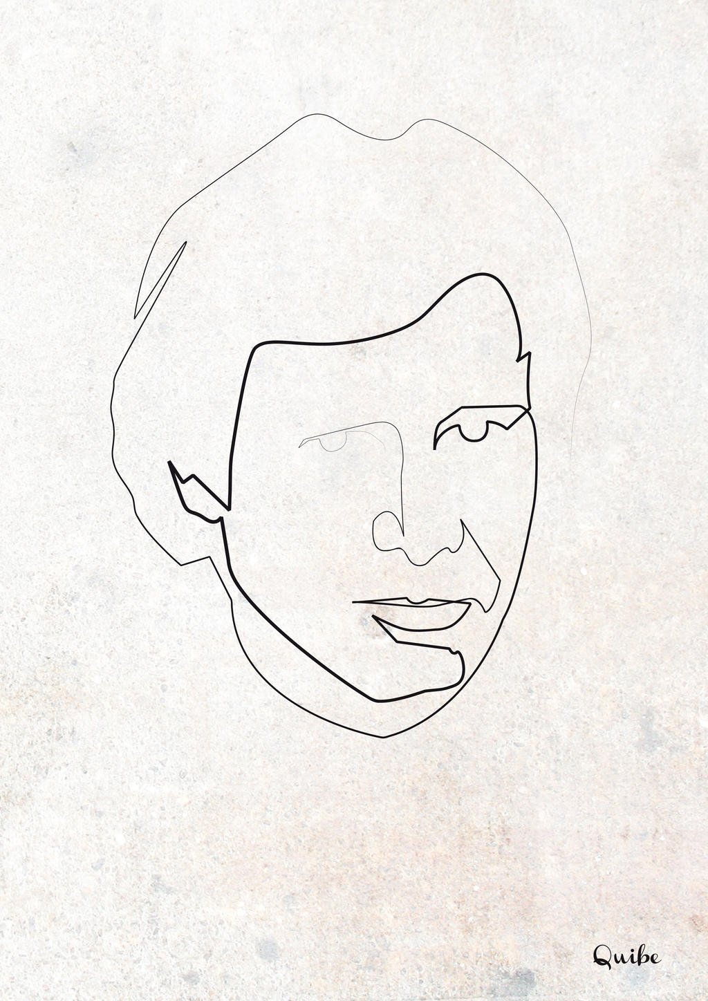 Continuous Line Drawing Quibe : One line han solo by quibe on deviantart