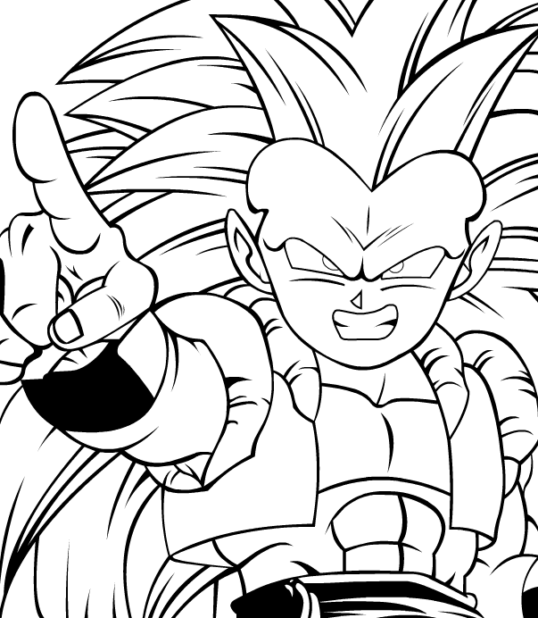 gotenks coloring pages - photo#31