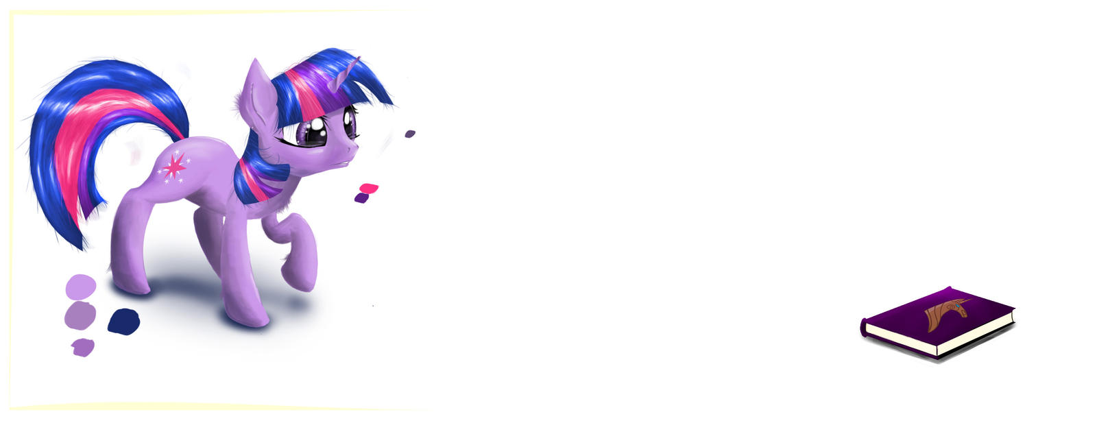 Twilight Sparkle sees a book by akurion
