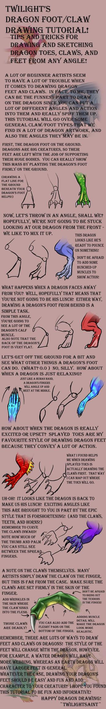 Tutorial  Dragon Feet By Twilightsaint