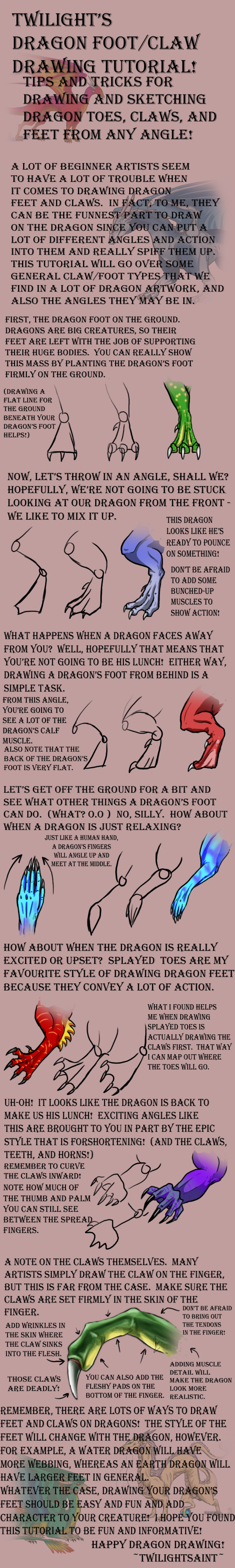 Tutorial - DRAGON FEET by TwilightSaint