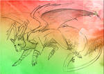 Sketch Comish - Wolf Spirit