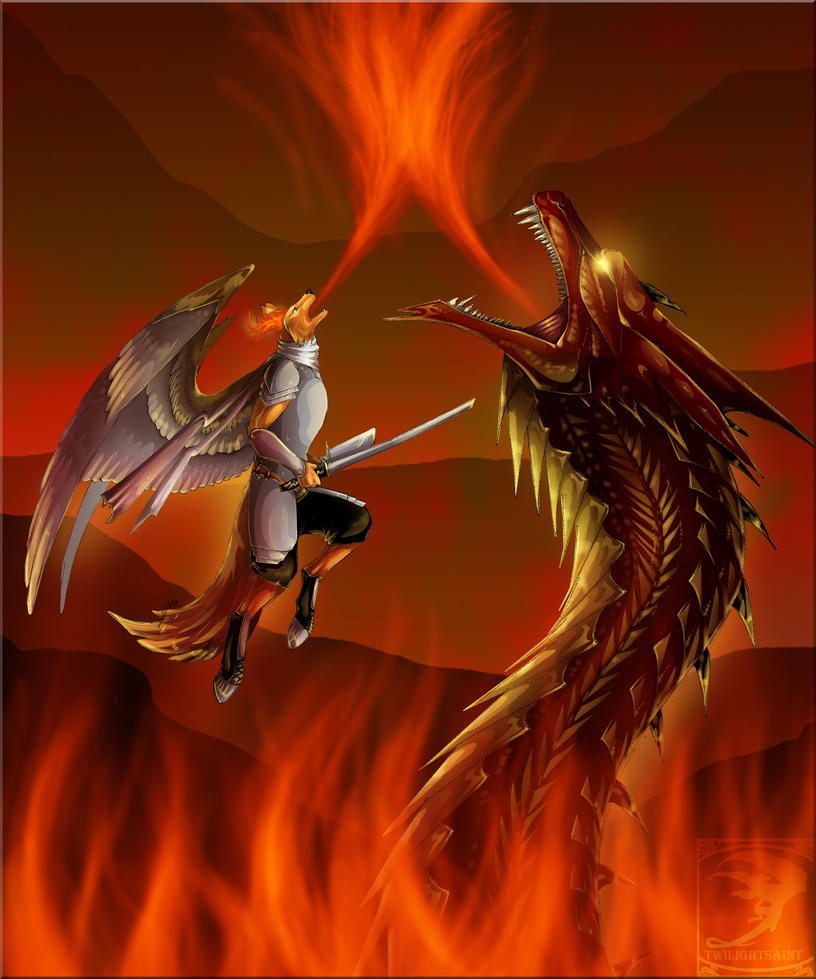 Comish - Twin Blaze by TwilightSaint