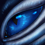 Eye-Con Comish - Silver and Sapphire